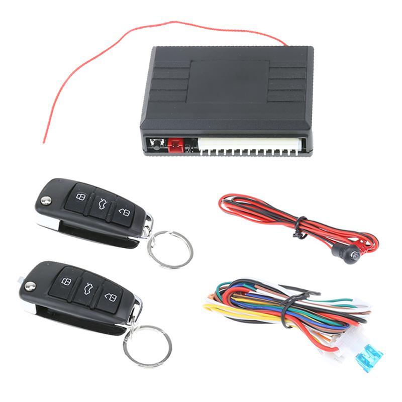 VODOOL alarma de coche de Control remoto automático de bloqueo Central Kit de puerta de entrada remota sin llave, sistema Universal de alarma del coche del ladrón de alta calidad
