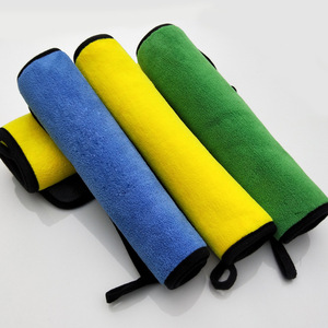 Image 2 - Größe 30*30 cm 800GSM Auto Waschen Mikrofaser Handtuch Auto Reinigung Trocknen Tuch Säumen Auto Pflege Tuch Super Saugfähigen auto Waschen Handtuch