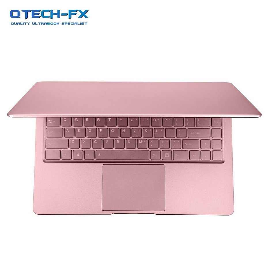 """金属の Ultrabook SSD 256 ギガバイト 512 ギガバイトの RAM 8 ギガバイトピンク 14 """"CPU インテル 4 コア Windows オフィスアラビアフランススペインロシアキーボードバックライト"""