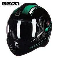BEON T702 сзади флип мотоцикл шлем модульный открытым полный уход за кожей лица шлем мото КАСКО cicleta Capacete шлемы ECE