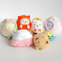 Kawaii 8Cm Cosplay Pig Series Sumikko Gurashi San X Keychain Cloak 6Pcs/Set Plush Stuffed Toy Christmas Gift For Girls Children