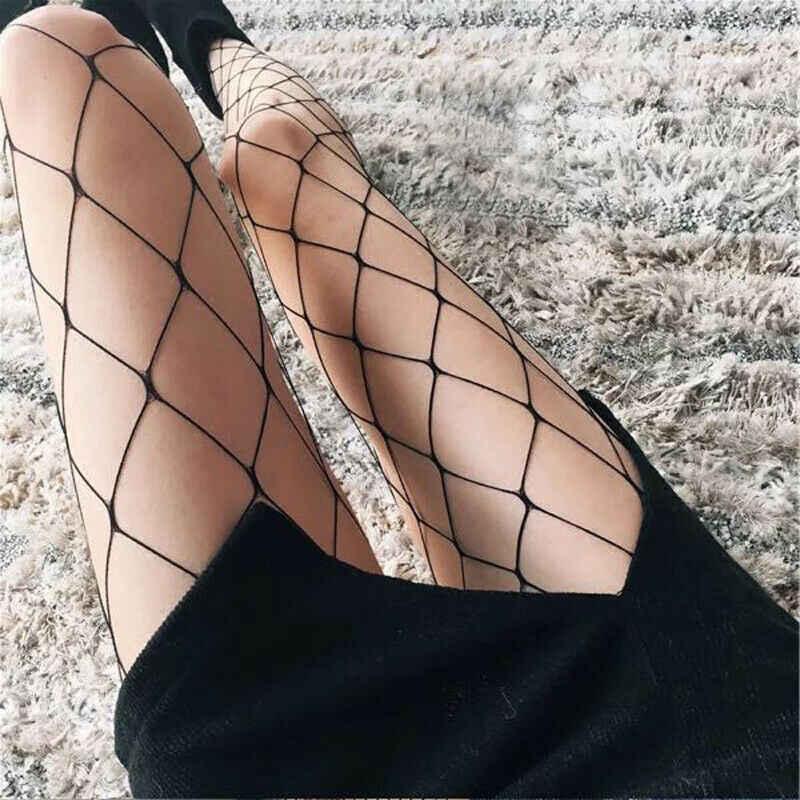 Nieuwe Mode vrouwen Zwarte Mesh Visnet Net Pattern Panty Panty Kousen Zwart Blauw Rood Wit Huid