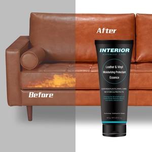 Image 3 - Wnętrze auta zaawansowane pielęgnacji skóry nawilżający środek zasadnicze znaczenie dla wnętrza samochodów/meble + 12 sztuk miękkie woskowanie gąbka piankowa