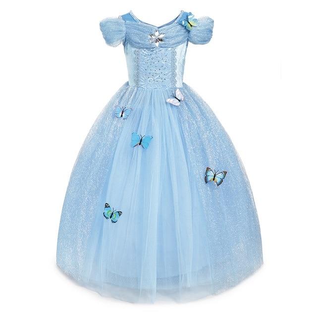 Collections princesse classiques pour filles | Robe Cosplay raiponce, la belle au bois dormant maléfique, costume de carnaval pour enfants, motif licorne clochette