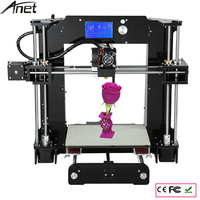 Additional single nozzle 3D printer kits prusa i3 reprap Anet A6 with SD card+PLA/ABS Filament