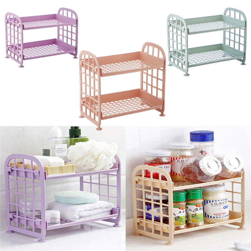 A Shelf 58 15c 5 Chrome Pull Out Basket: 2 Tier Pure Plastic Corner Cabinet Shelf Rack Freestanding
