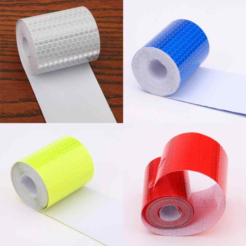 Car Stickers Motorcycle Reflective Tape Stickers Car Styling For Automobiles Safe Material Safety Warning Reflective Film 5cmx3m