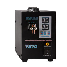 Black 737G 110V Battery Spot Welding Hand Held Welding Machine With Pulse & Current Display 140x245x200mm(China)