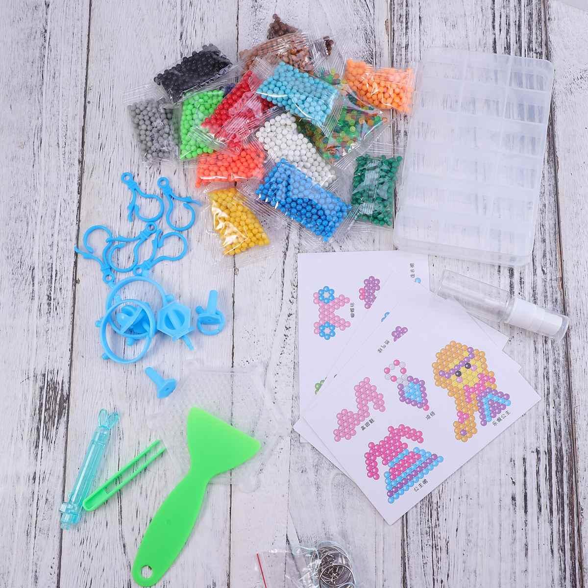 3500 шт DIY плавкие бусины набор ручной работы забавные Волшебные креативные водостойкие бусины обучающая игрушка плавкие бусины для рукоделия