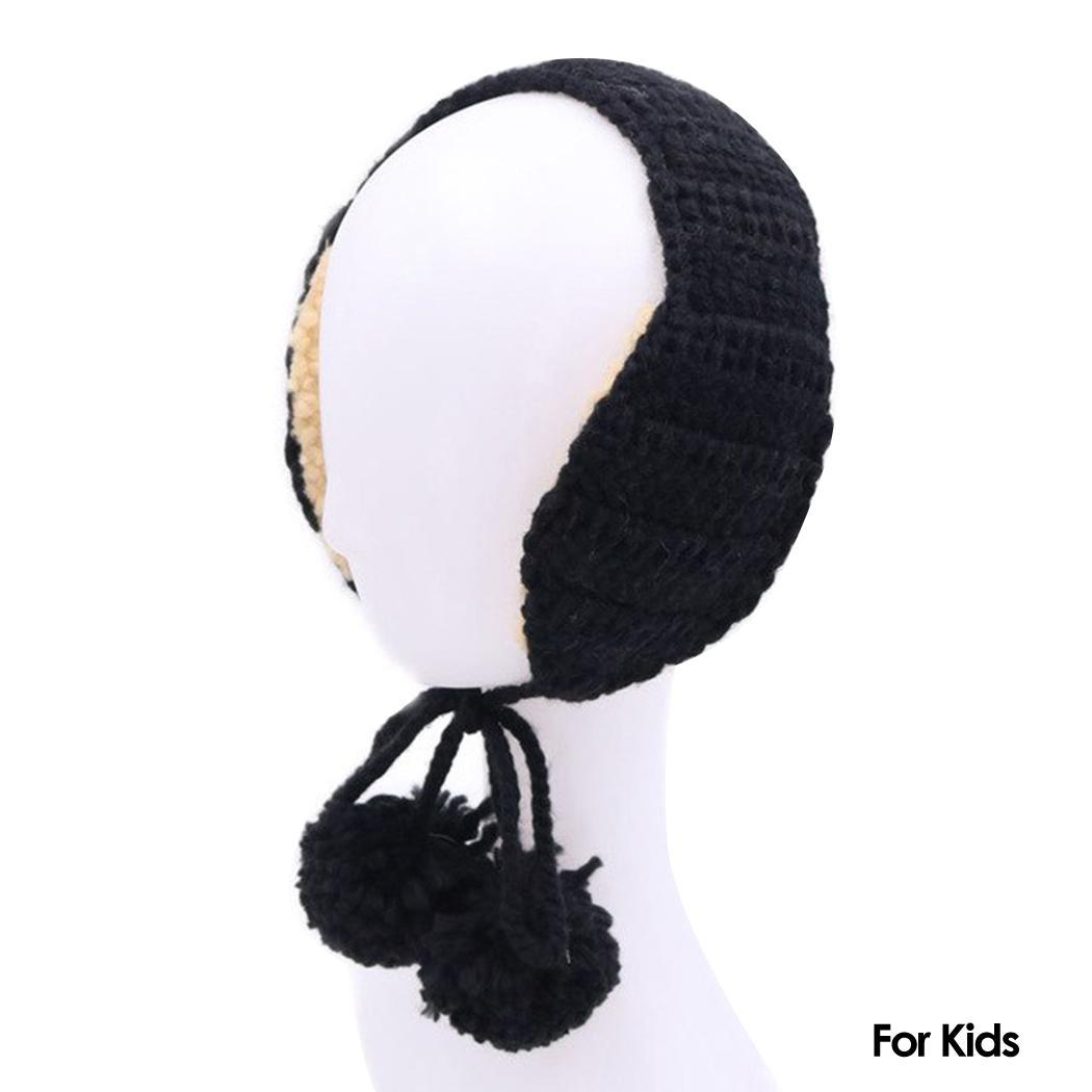 Knitted Earmuffs Wool Ear Warmers Winter Warm Ear Solid Children, Adult Casual Autumn And Cover
