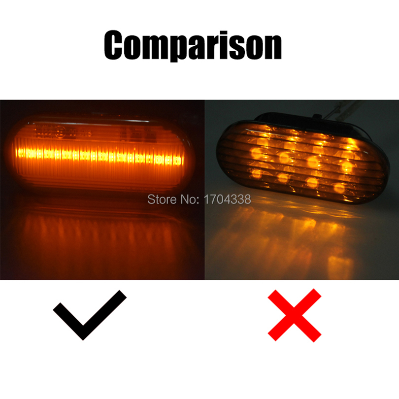 2pcs Dynamic Led Side Marker Turn Signal Light Sequential Blinker Light For Ford C-max Fiesta Focus MK2 Fusion Galaxy Amber