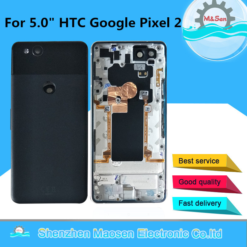 Case Battery-Cover Housing Google Pixel 2-Back Original M HTC for Side-Keys with