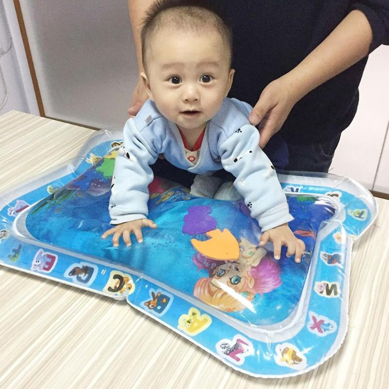 Baby Kids Water Playmat Inflatable Thicken PVC Infants Playmat Safe Water Cushion Portable Playmats For Infant Toddlers Activity