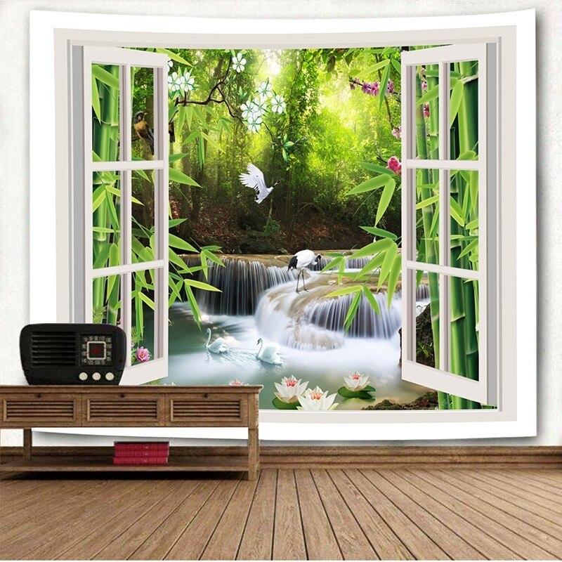 1 Pc Bos Woods Gras Path Dieren Psychedelische Vierkante Verse 150x200 Cm Decoratie Serie Tapijt Muur Opknoping Mandala Boho Gediversifieerde Nieuwste Ontwerpen