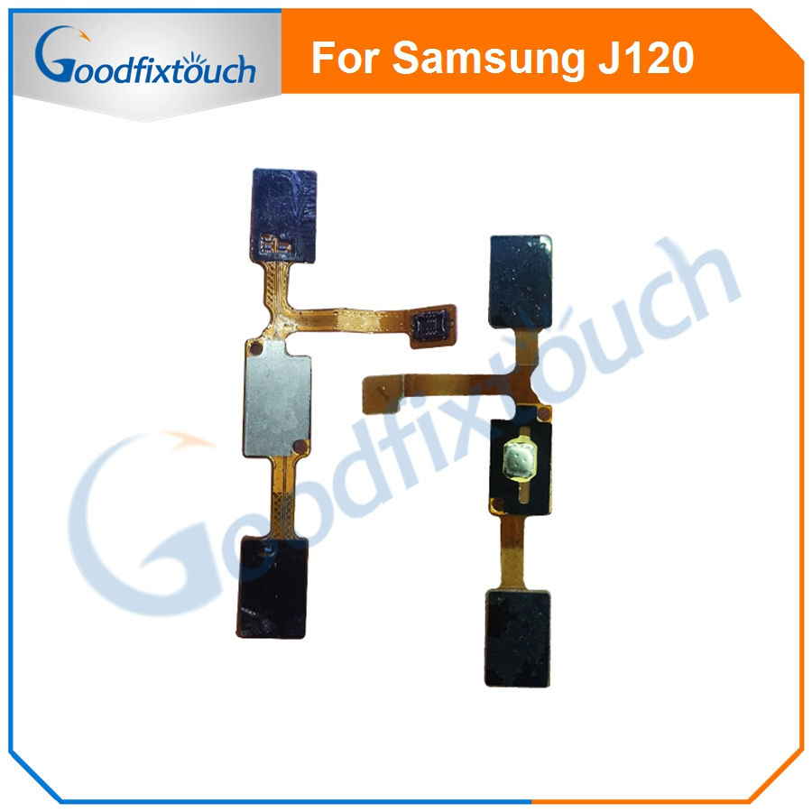 For Samsung J120 Back Home Button Fingerprint Sensor Flex Cable Touch ID Menu Return Key Flex Ribbon Replacement Parts