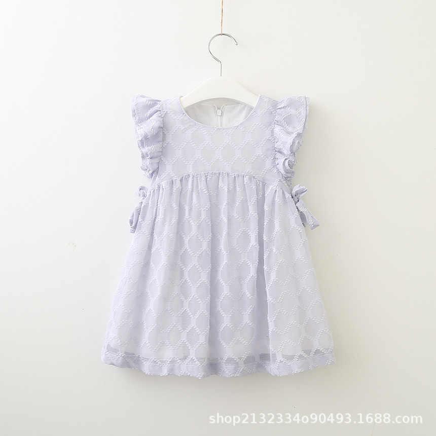 fd2fbae3c ... Bonito plissado vestido de manga curta idade para 2-8 yrs meninas roupas  de verão