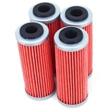 4 шт. мотоциклетные масляный фильтр очиститель для Ktm Sx Exc-F Sx-F Xc-F Exc Xcf-W Smr Xc-W Exc-R Xc-Wr 250 300 350 400 450 505 530 грязь БИК