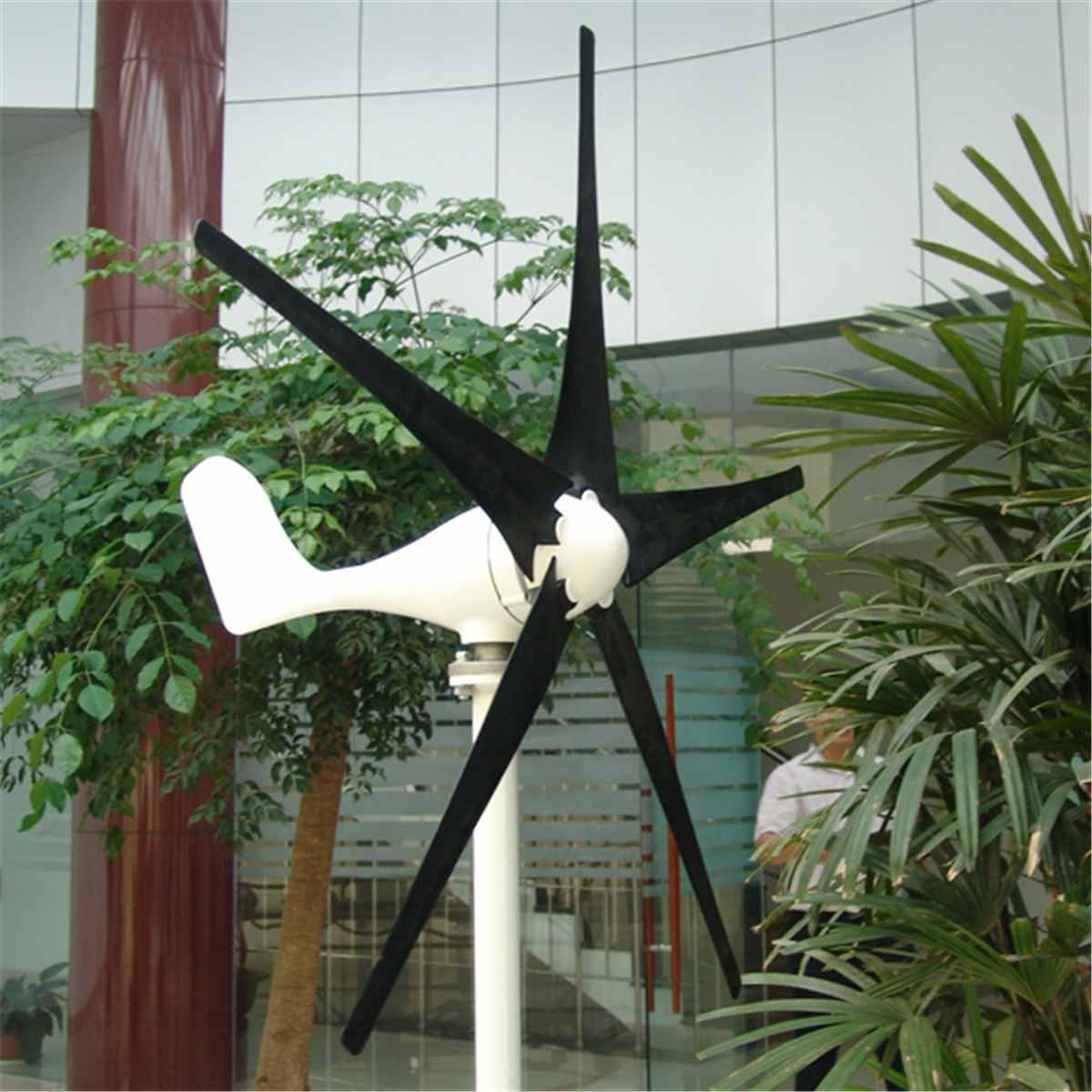 Alternative Energy Generator 5 Blades DC 12/24V 100W Wind TurbineGenerator With Windmill Charge Controller Electrical MachineAlternative Energy Generator 5 Blades DC 12/24V 100W Wind TurbineGenerator With Windmill Charge Controller Electrical Machine