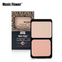 Music Flower Brand Makeup 5 Colors Face Pressed Powder Long-lasting Whitening Br