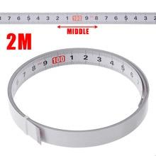 1/2/3/5 м самоклеющаяся торцовочная пила трек рулетка бэк метрических Сталь линейка клейкие ленты измерения