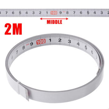 1/2/3/5M Self Adhesive Miter Saw Track Tape Measure Backing Metric Steel Ruler Tape Measurements 1m miter track tape measure self adhesive metric steel ruler miter saw scale for router table saw band saw woodworking tool