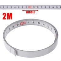 1/2/3/5M Self Adhesive Miter Saw Track Tape Measure Backing Metric Steel Ruler Tape Measurements