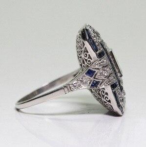 الأوروبية بالغت الياقوت النساء كريستال مكعب زركونيا فضي الفرقة خاتم هدية مجوهرات خواتم للنساء هدية لذيذة