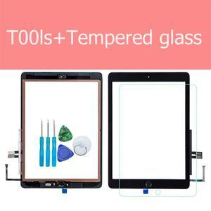 Image 1 - Für iPad 6th 2018 A1893 A1954 Touchscreen Glas Montage Ersatz + Home Taste + Eröffnung Werkzeuge + Gehärtetem Glas