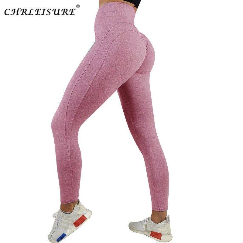CHRLEISURE Activewear Push Up Leggings Women Workout Fitness Legging Heart Patchwork Breathable Jegging Women Pants