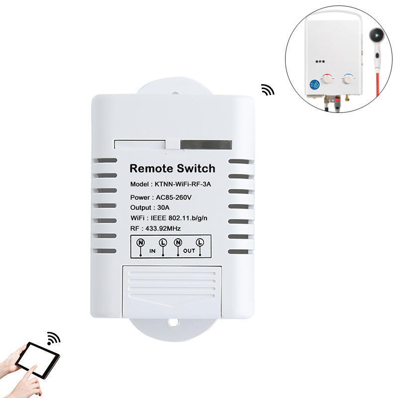 1Gang 30A High Power Wifi Relay Switch Receiver 110V 220V Smart Home Gadgets Wireless Light Switch