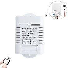 1 Gang 30A Высокая мощность Wi-Fi релейный Переключатель приемника 110 V-220 V смарт-гаджеты для дома Беспроводной выключатель света приложение eWeLink Управление 433 МГц