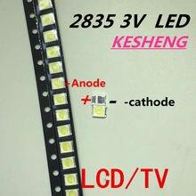 500p/lot Jufei 1 W 2835 3 V led smd 3528 88 lm biały Freddo dla TV/LCD podświetlenie aplikacji