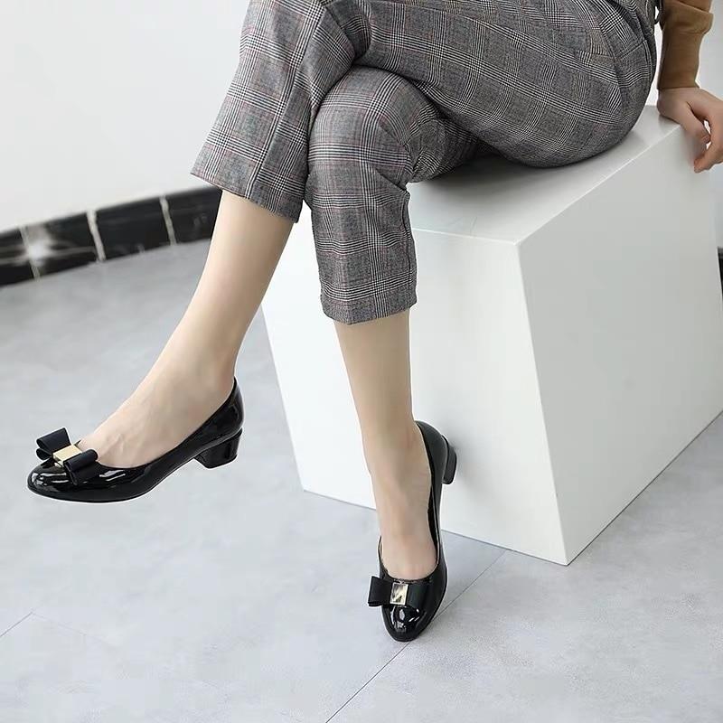 Boda Marca Nueva Las Por Corte De Tacón Zapatos nude pale gray Diseñador claret Arco Cuero red Plus 2019 Mujeres Mujer gold Mauve Black Tamaño Señora Medio ZddqXw