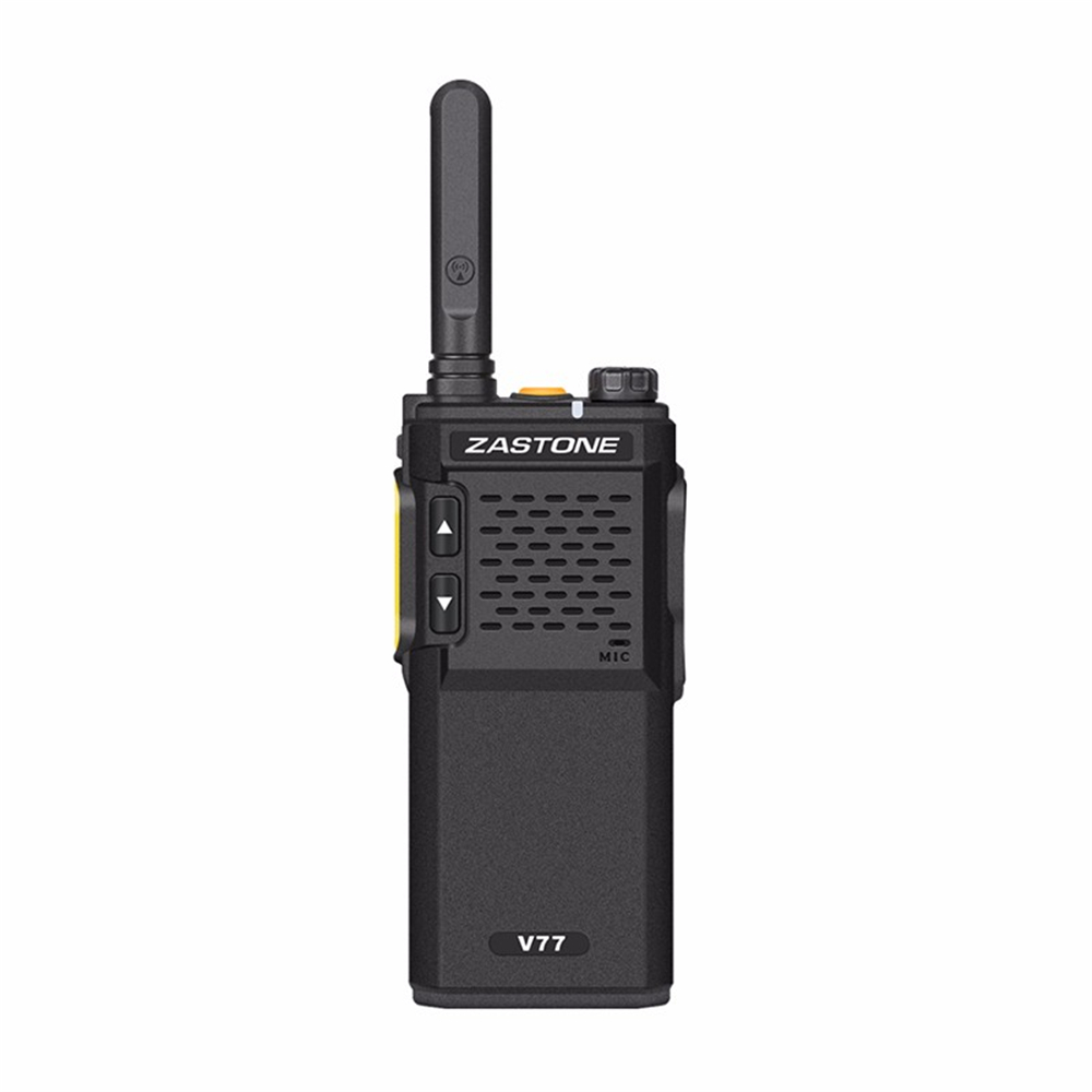 Zastone V77 Mini Portable Ham Radio Walkie Talkie 400-470mhz UHF 16 Channels Powerful Handheld Two Way Radio