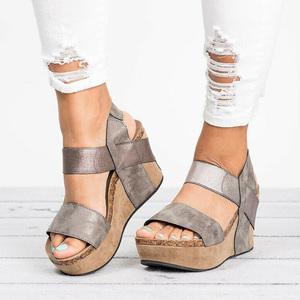 Image 5 - Wedges Shoes For Women Sandals Plus Size High Heels Summer Shoes 2019 Flip Flop Chaussures Femme Platform Sandals 2019