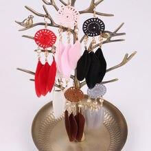 Серьги с кисточками женские в богемном стиле веерные бусинами