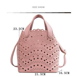 Image 3 - YASICAIDI sac fourre tout ajouré deux pièces Style femme, sac à épaule, tendance, Simple, diagonale été, 2019