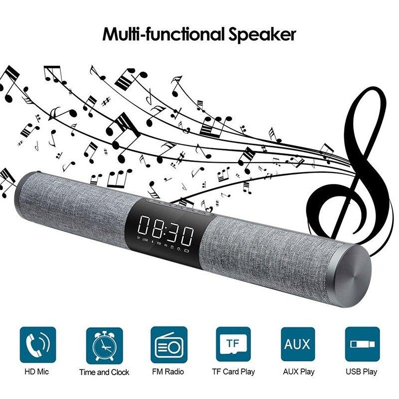 LP-C18 Home TV Soundbar Bluetooth Speaker Portable Wireless Subwoofer 3D Surround FM Radio MP3 MP4 Alarm Clock цена и фото