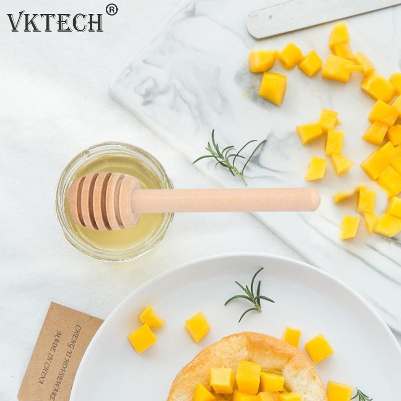 24 Stks Houten Honing Lepel Mengen Stok Koffie Roer Bar Mengen Honing Stick Keuken Gereedschap Honing Jar Supplies