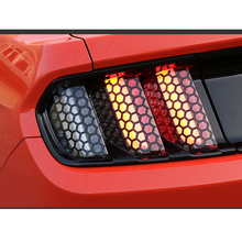 6pcs/Set Honeycomb PVC Car Rear Tail Light Decorative Decal Stickers Cover Decoration Fit For Ford Mustang 2015 2016 2017