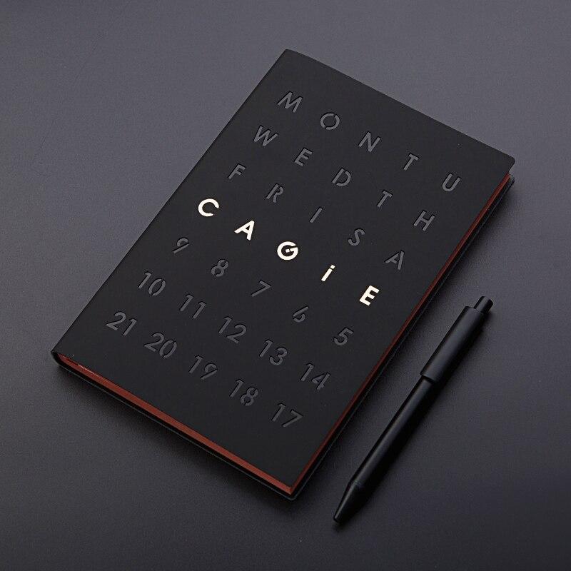 Vinatge Travel Journal Leather School Notebook Black Thick 256