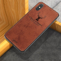 Case For Meizu 16S deer pattern fabric back cover silicone edge shockproof case For Meizu 16 plus 16X M5 M6 M9 note capa Fundas
