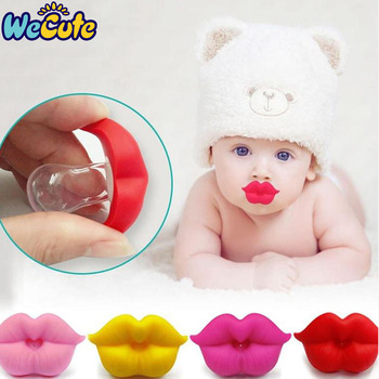 Wecute smoczek dla niemowląt klip czerwony pocałunek usta smoczki smoczki śmieszne silikonowe smoczki dla niemowląt gryzak smoczek dla dzieci karmienie tanie i dobre opinie Silicone +ABS 0 miesięcy Stałe 1014 about 19cm Pojedyncze załadowany BPA za darmo Baby Nipples Soother Baby Dental Care