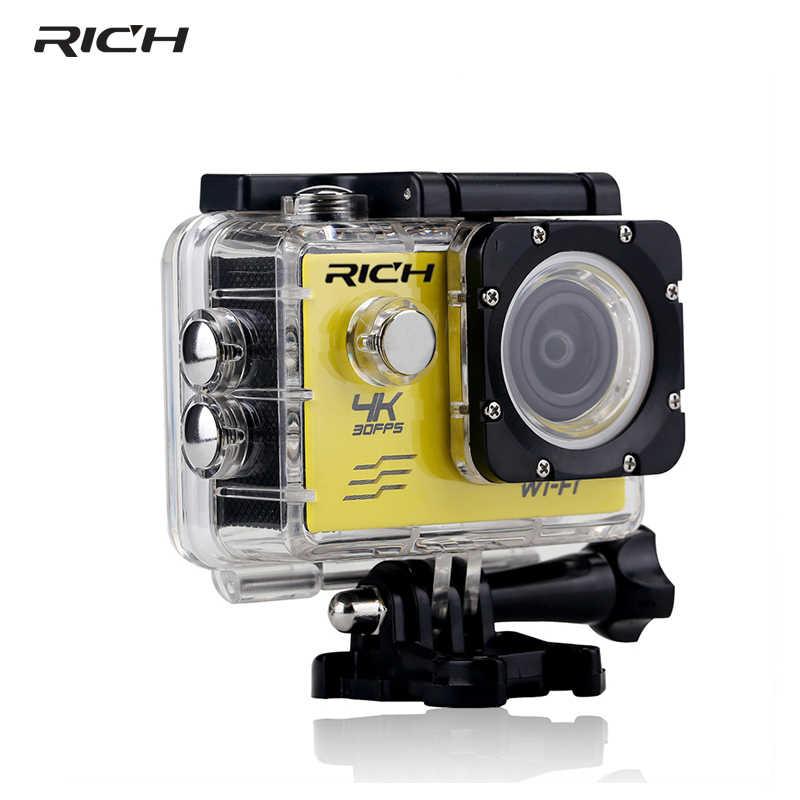 豊富なスポーツカメラ HD 8MP Wifi 1080 1080p アクションビデオカメラ水中 DV ミニ防水スポーツヘルメットカメラビデオカメラ