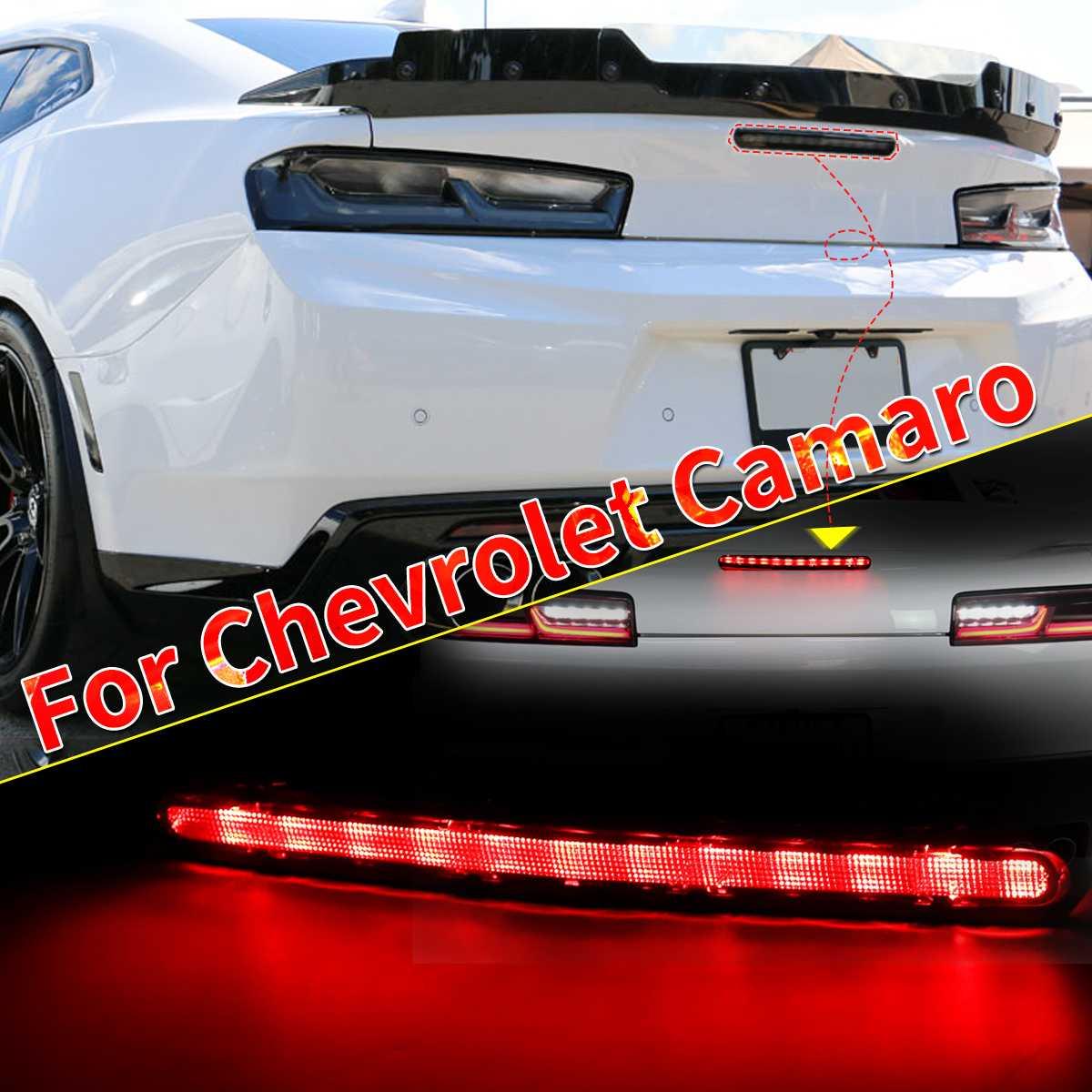 1 Pcs Gerookte Verduisterd Led Achter Derde 3rd Remlicht Lamp Abs Voor Chevrolet Camaro 2016-2019