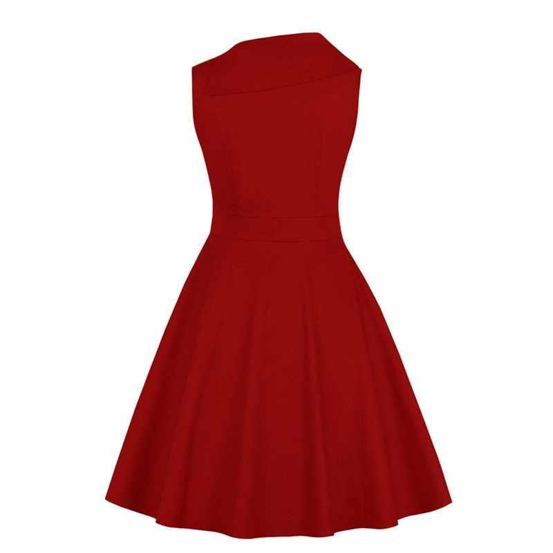 Sisjuly винтажное платье женщины 1950-х годов без рукавов линия лето сплошной черный готический элегантный девушка случайные качели опрятный ретро платья