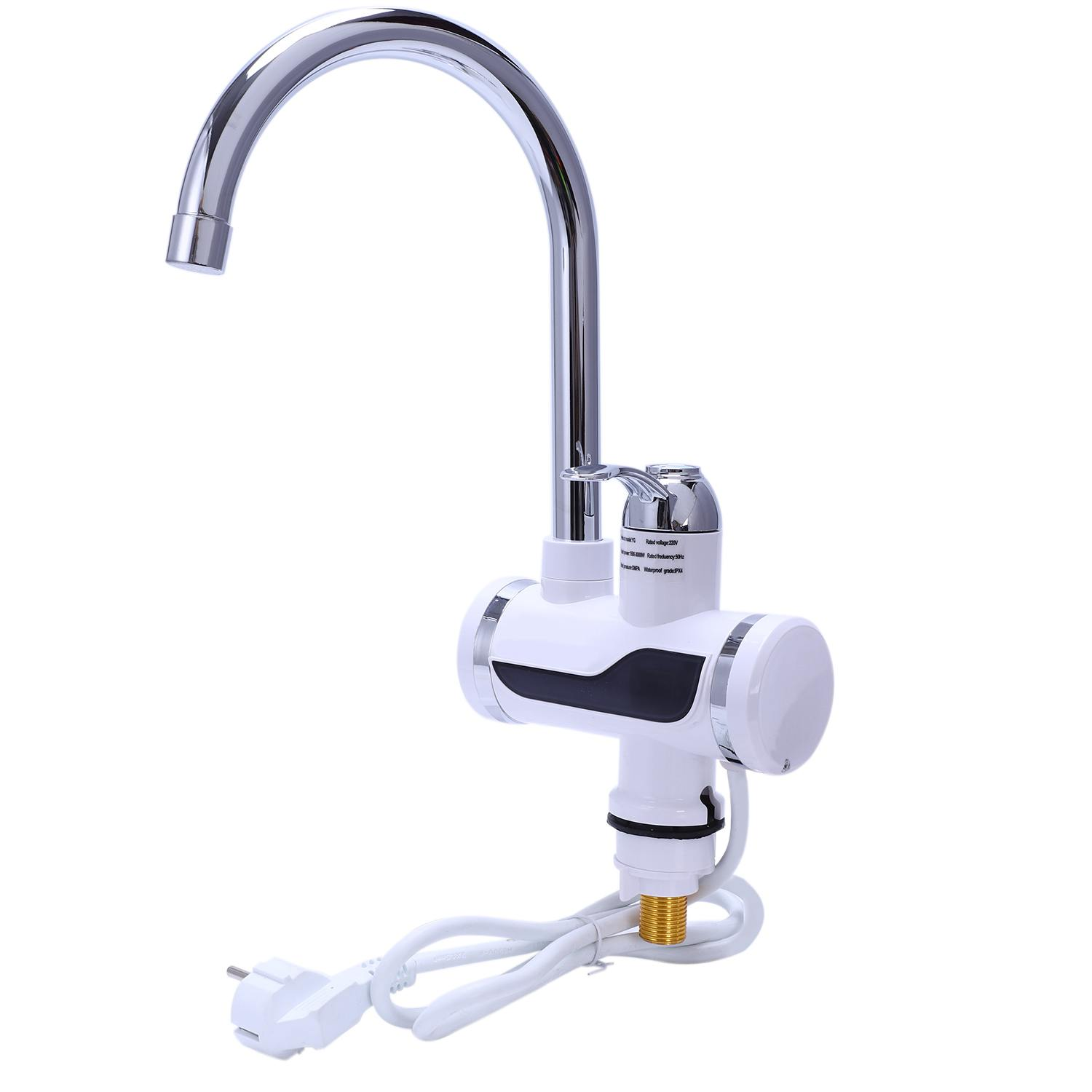Hot Sale Eu Plug Electric Kitchen Water Heater Tap Instant Hot Water Faucet Heater Cold Heating Faucet Tankless Instantaneous-in Kitchen Faucets from Home Improvement