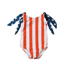 Summer Cute Kids Baby Girls BIkini Swimwear Swimsuit Bathing Suit Beachwear lot Baby Girl Bodysuits Cotton O-neck Sleeveless(China)