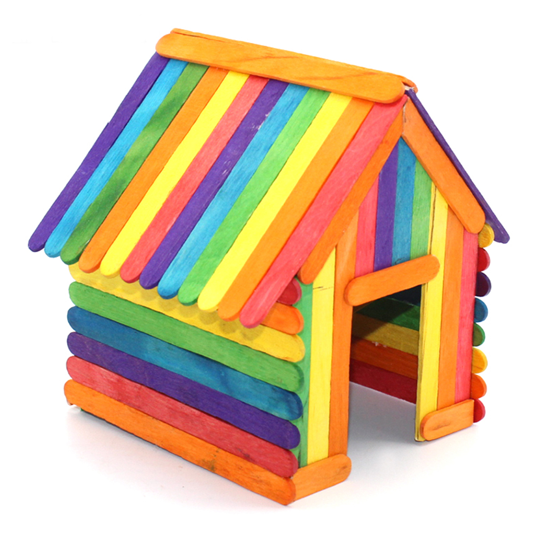 Деревянные поделки DIY, Натуральные Цветные деревянные палочки для мороженого, детские домашние игрушки ручной работы, игрушки для еды DIY