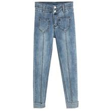 Spring Summer Slim Jeans For Women Skinny High Waist Woman Blue Black Denim Pencil Pants Stretch Pockets